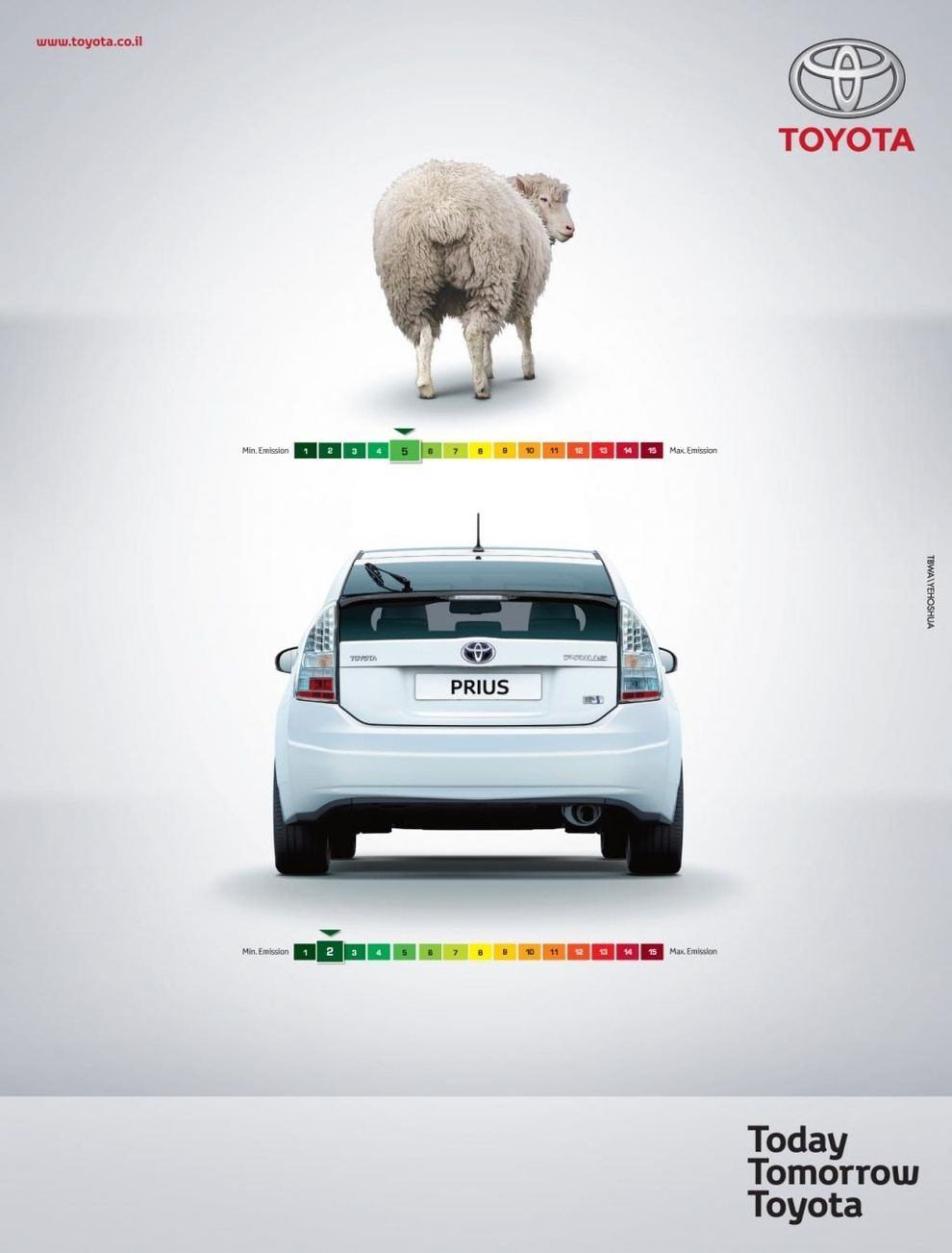 A Good Example Of Green Marketing And Very Clever Ad By Toyota I D Like To See The Actual Data That Proves Prius Has Less Emissions Than Sheep But