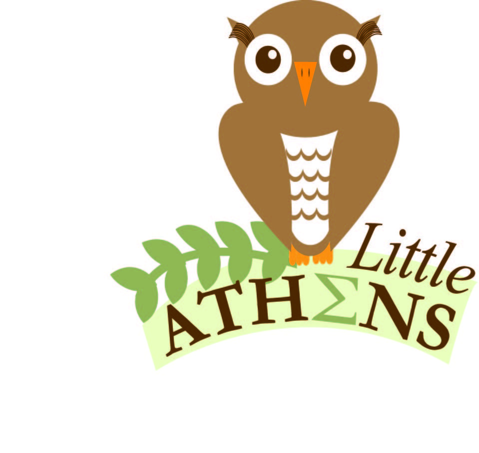 The Owl is based on Athena the Greek goddess of wisdom..Athens is named after Athena. Heather Herrin's work. Not my final logo but I still love that i made the owl from scratch.
