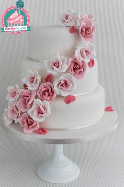 3 tier wedding cake with cascading roses 3 tier wedding cake with cascading roses search 10341