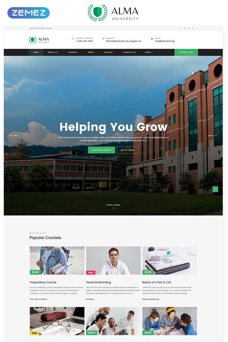 Alma University Multipage Html Website Template Html Templates Templates Web Design Software