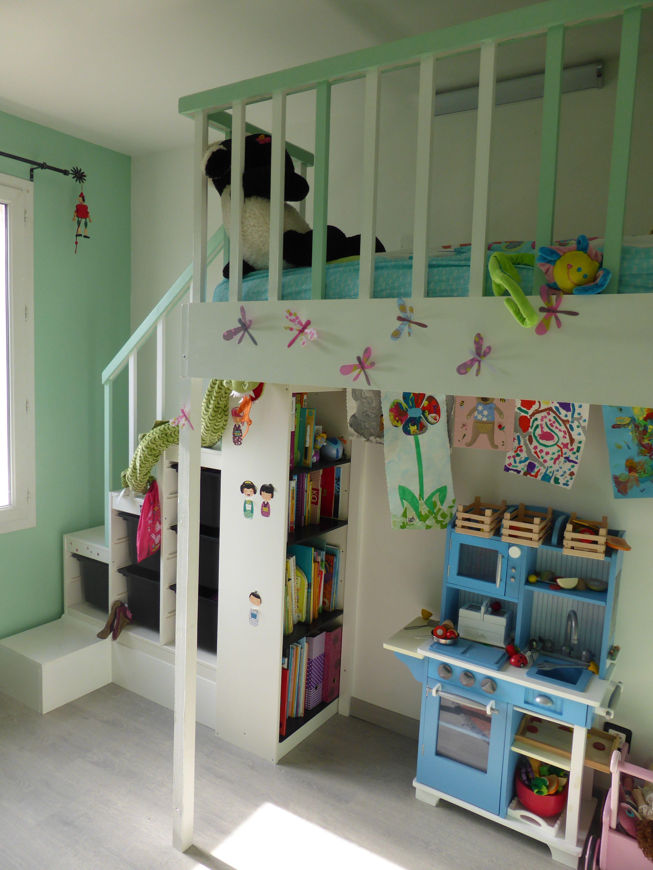 DIY Ikea Hackers Lit Mezzanine Pour Petite Fille Entierement A Base De Meuble