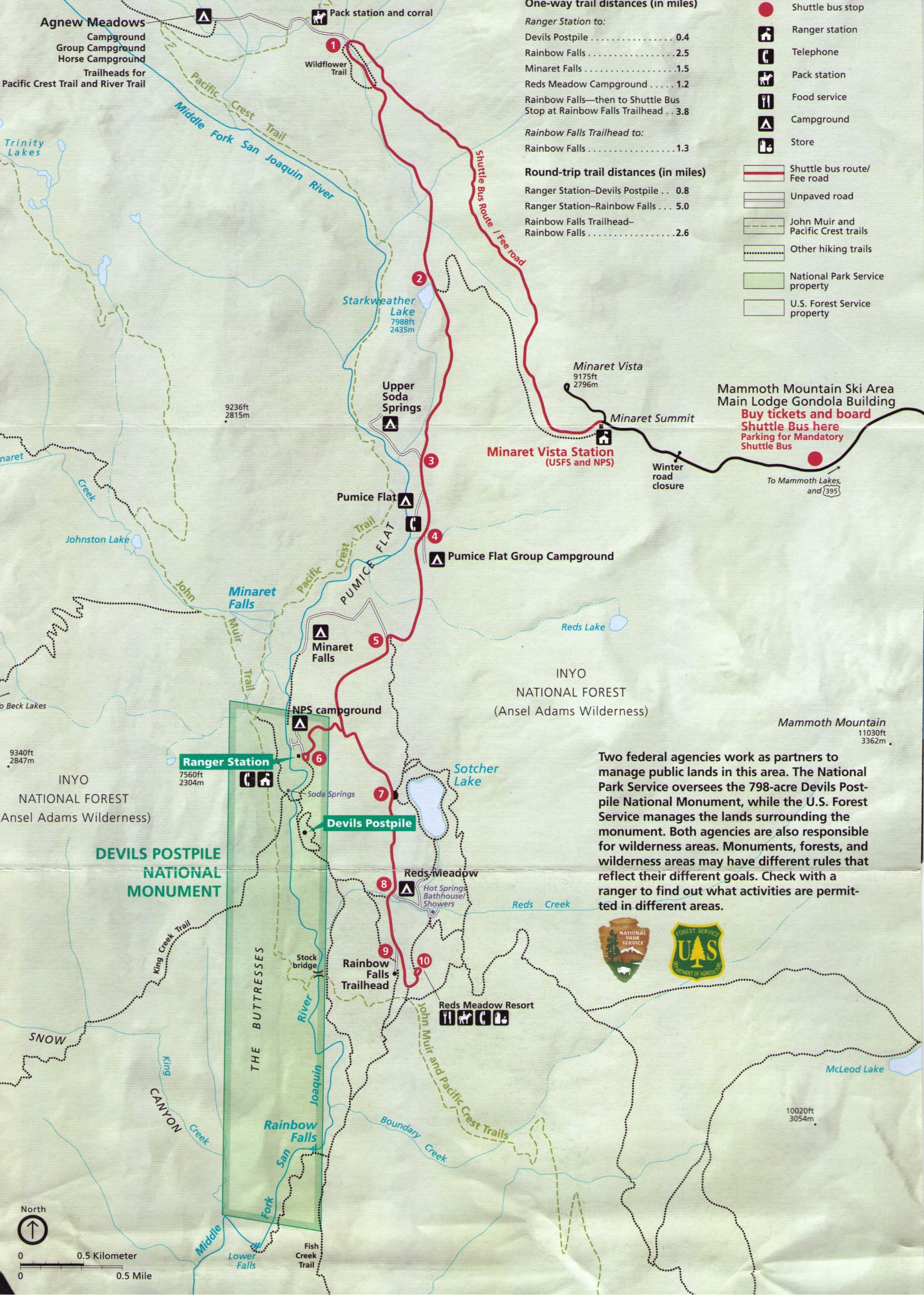 Reds-Meadow-Shuttle-Map | Red\'s Meadow Area Trails | Mammoth lakes ...