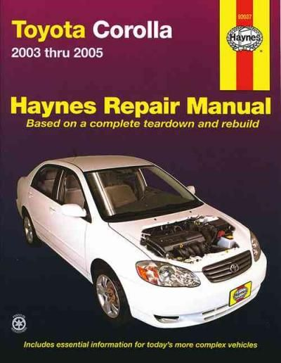 toyota corolla 2002 manual