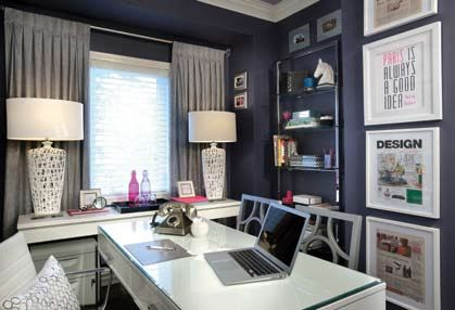 a glamorous office design from our diy editor home trends magazine