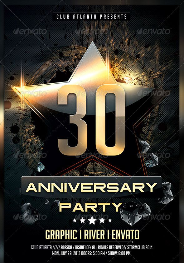 Birthday anniversary party flyer template mockup meuk birthday anniversary party flyer template saigontimesfo