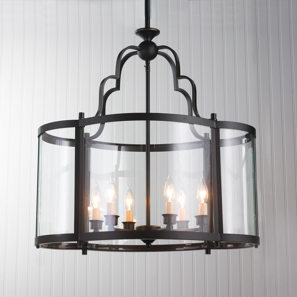 Oval Quatrefoil Lantern Large