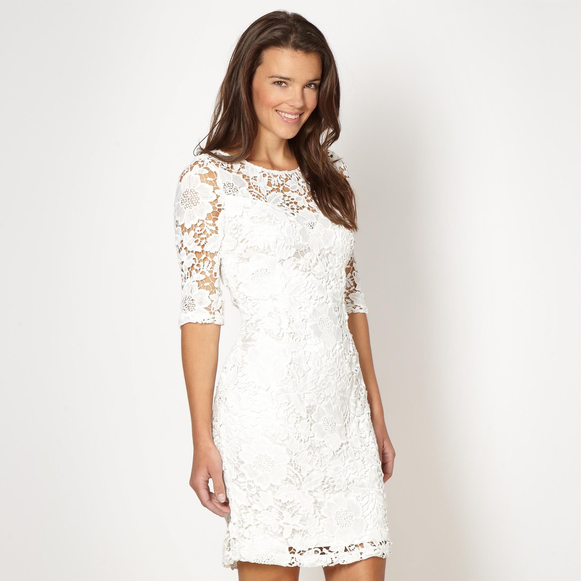 Debenhams Little White Lace Dress