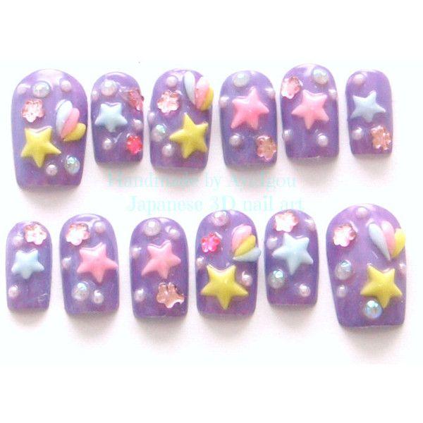 Kawaii nails, 3D nails, deco nails, pastel, fairy kei, mahou kei ...