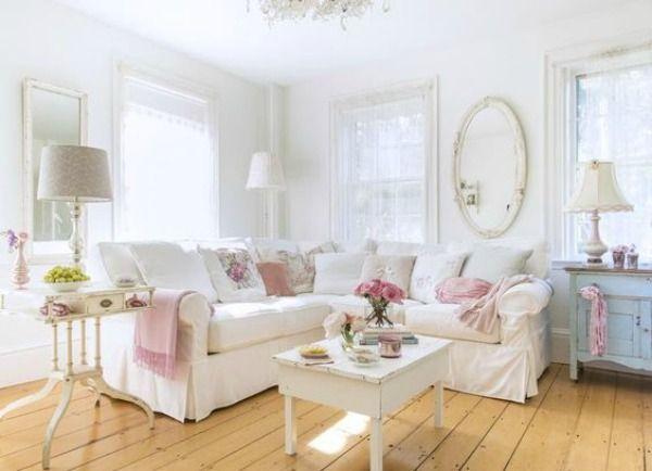 ideas para decorar tu casa al estilo shabby chic - decoración 2.0, Wohnzimmer dekoo