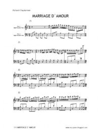 Richard Clayderman - Mariage D'Amour Sheet Music (Piano Solo