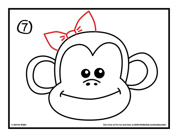 How To Draw A Monkey - Art For Kids Hub - | Monkey, Drawings and ...