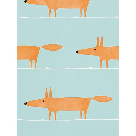 Scion Mr Fox Paste the Wall Wallpaper, 110847 Nursery Pinterest