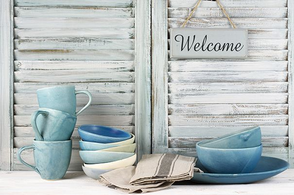 Add a warm, welcoming touch to a room with simple, rustic accessories.