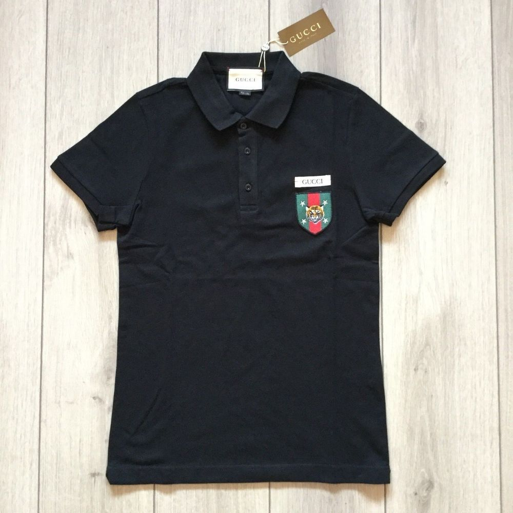 0ff98c0eeca brand NEW men GUCCI GG black polo t-shirt Size XXL  fashion  clothing   shoes  accessories  mensclothing  shirts (ebay link)