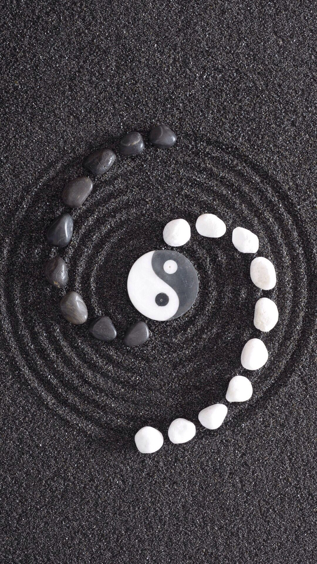 Pin By Wallpapers Phone Pad Hd On 9 16 Phone Ying Yang Wallpaper Ying Yang Ying Yang Art