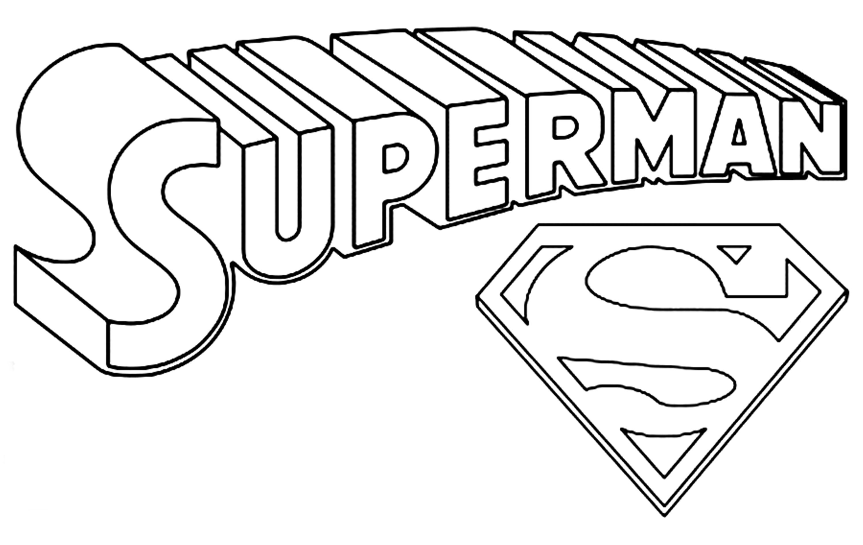 Amazing Superhero Logos Coloring Pages