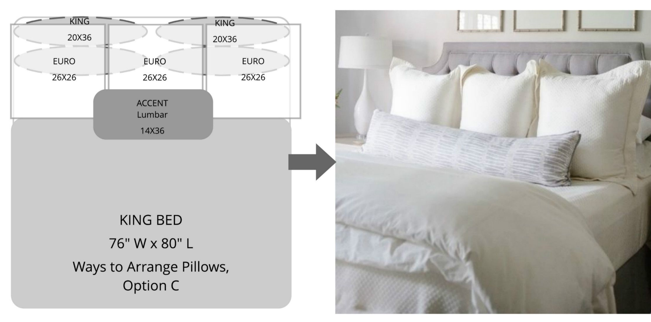 ways to arrange bed pillows bed