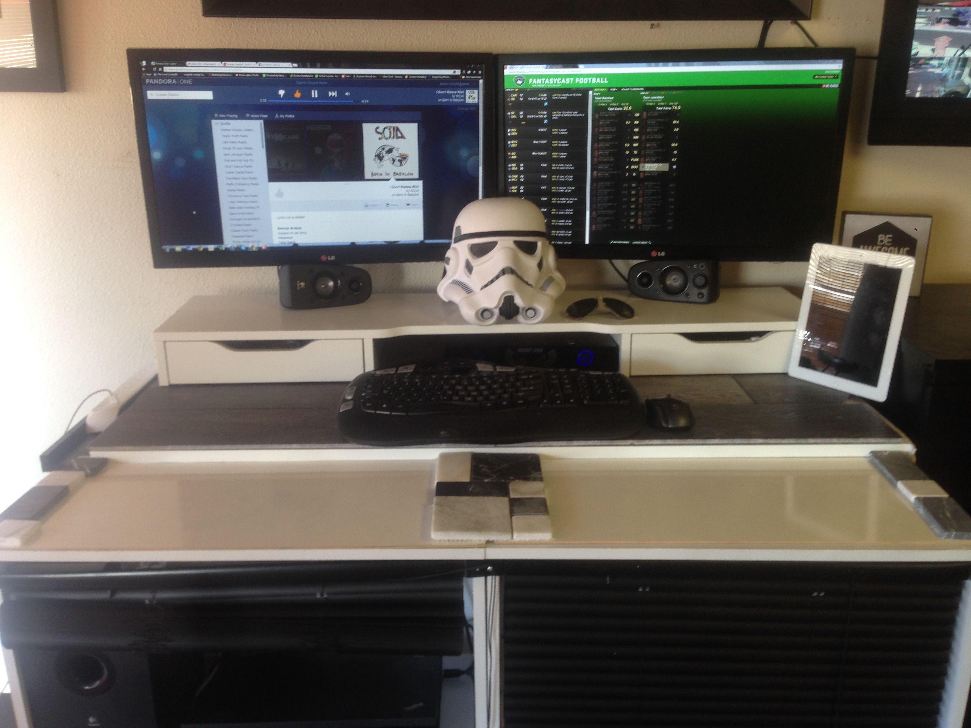 Stormtrooper Stand Up Desk