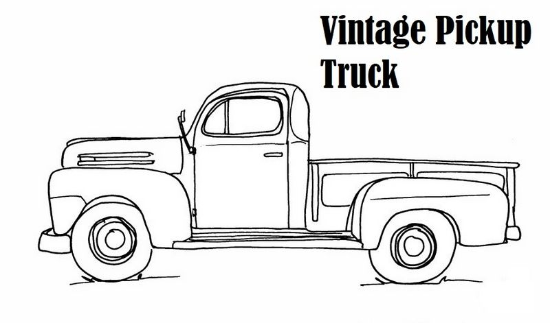 Vintage Pick Up Truck Coloring Page Truck Coloring Pages, Pickup Trucks,  Classic Ford Trucks