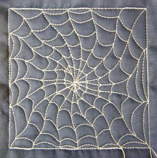 The Free Motion Quilting Project: Day 52 - Spider Web