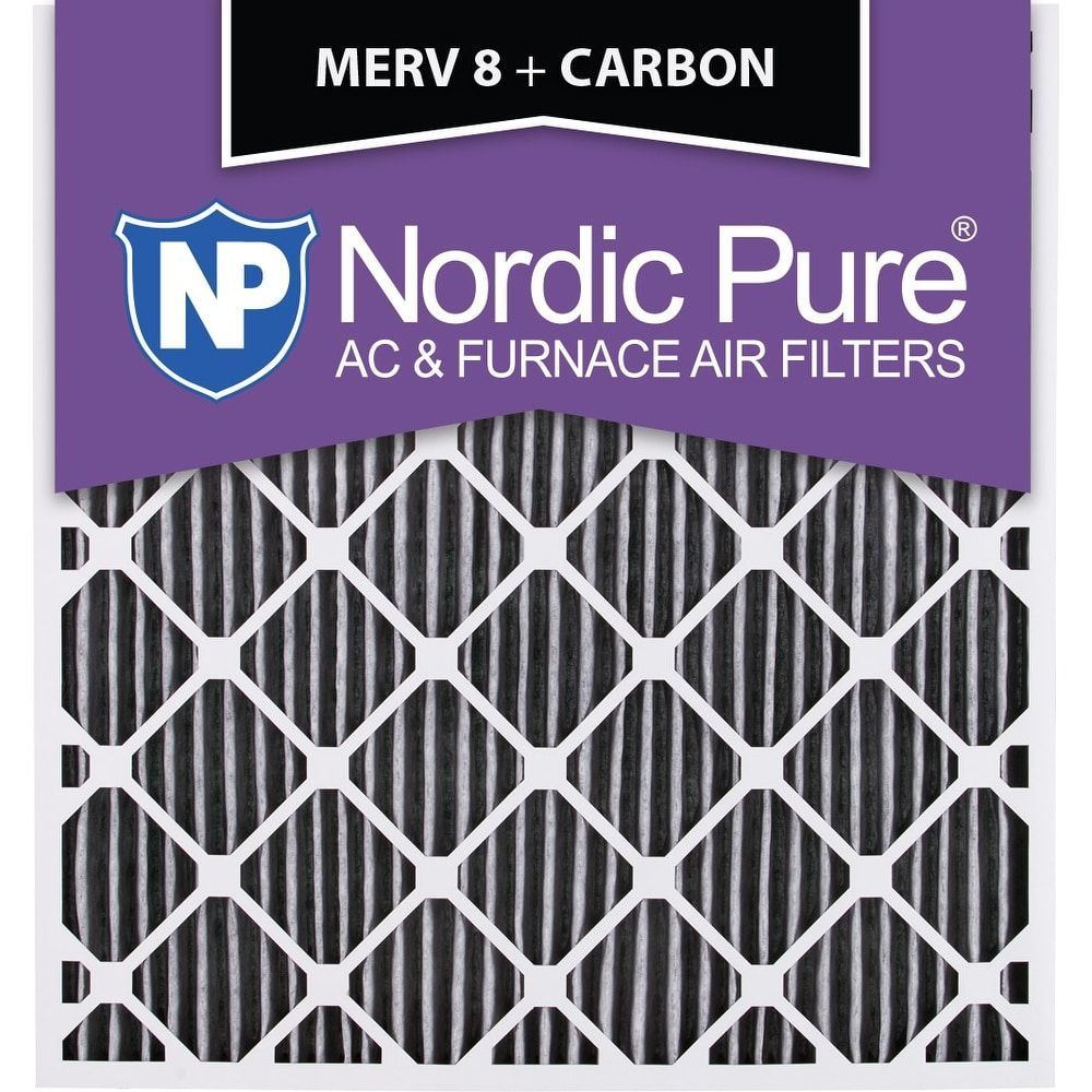 Nordic Pure 28x30x2 Geothermal MERV 8 Pleated Plus Carbon