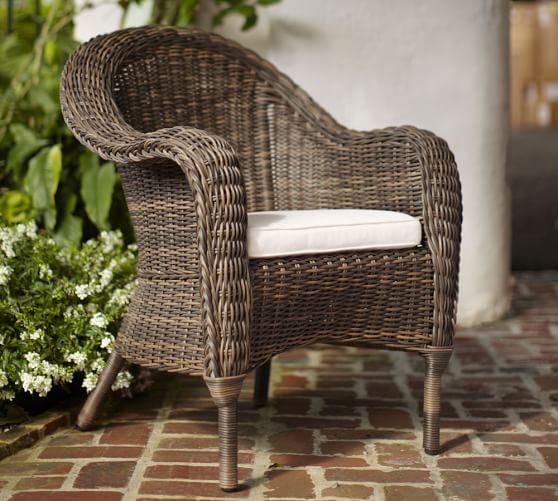 torrey all weather wicker dining armchair espresso in 2019 rh pinterest com