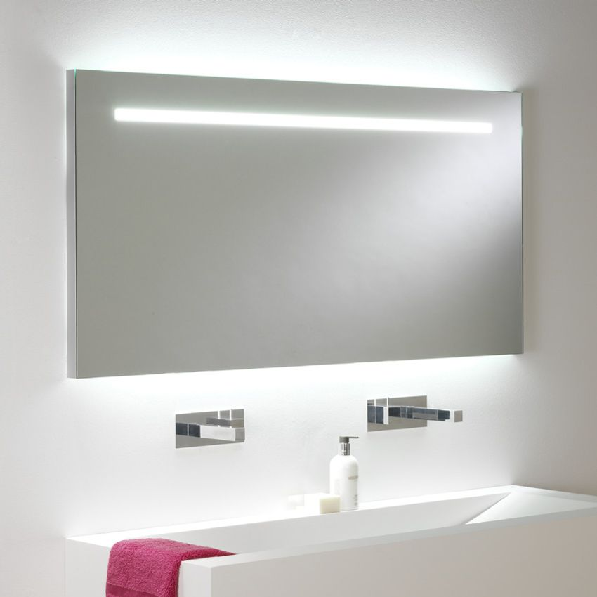 miroir lumineux led int gr clairage up down salle. Black Bedroom Furniture Sets. Home Design Ideas
