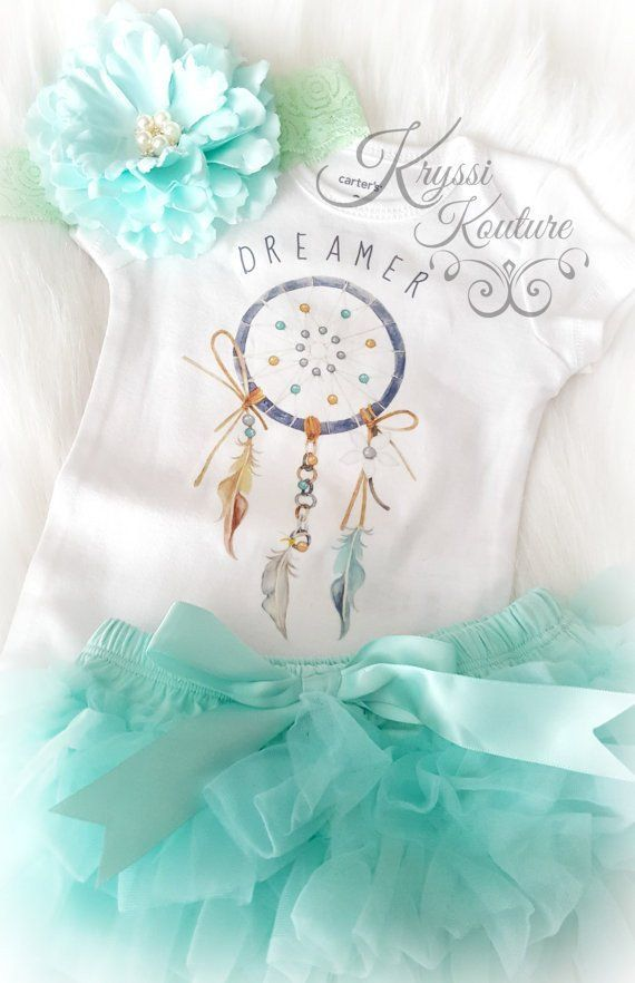 Kryssi Kouture Original Dreamer C Customer Favorite Baby Girl Or Boys Blue Aqua Dreamer Boho Baby Onesie Newborn Onesie Bohemian Baby Baby Girl Newborn Baby Girl Clothes