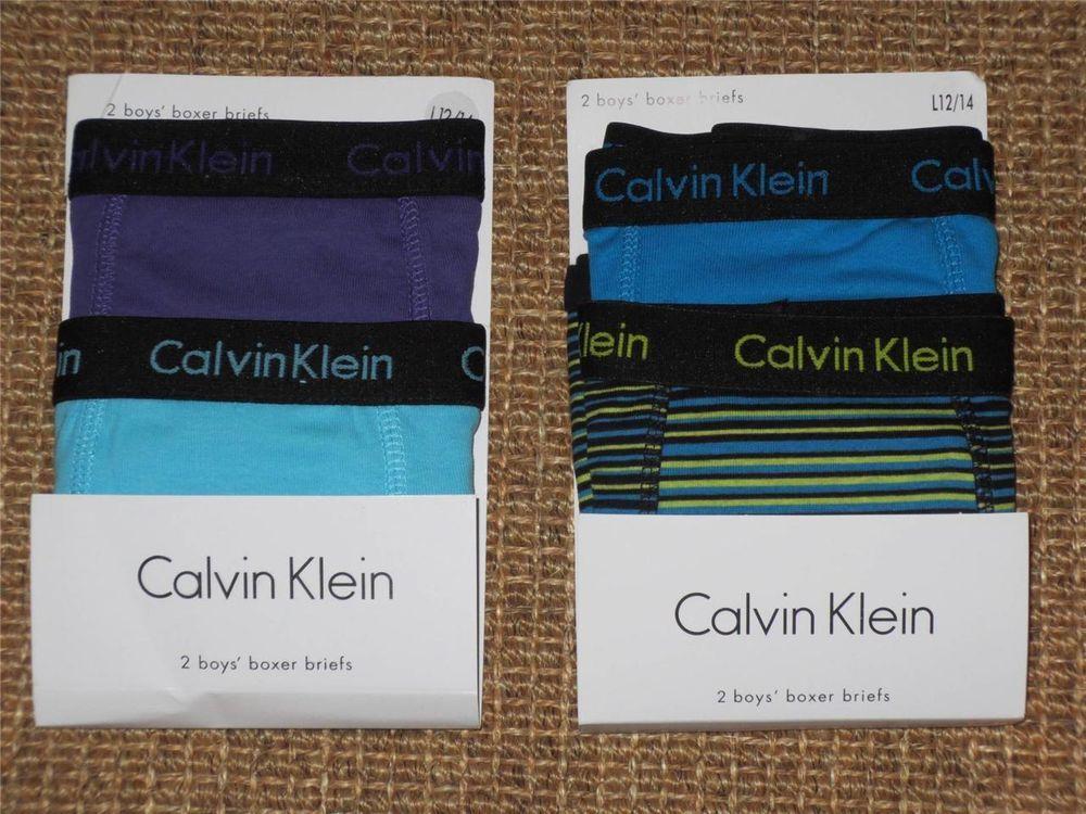 CALVIN  KLEIN  BOYS   BOXER  BRIEFS 12 / 14   LARGE  BOYS  UNDERWEAR  NEW NWT #CalvinKlein #BoxerBriefs