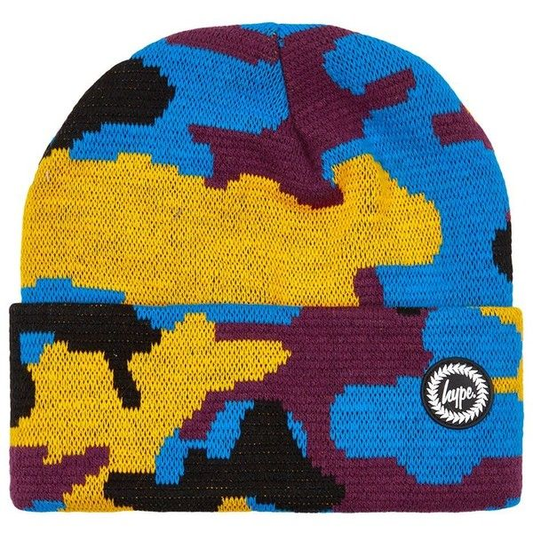 0c9f9a875a9 TOPMAN Hype Camouflage Beanie ( 20) ❤ liked on Polyvore featuring men s  fashion