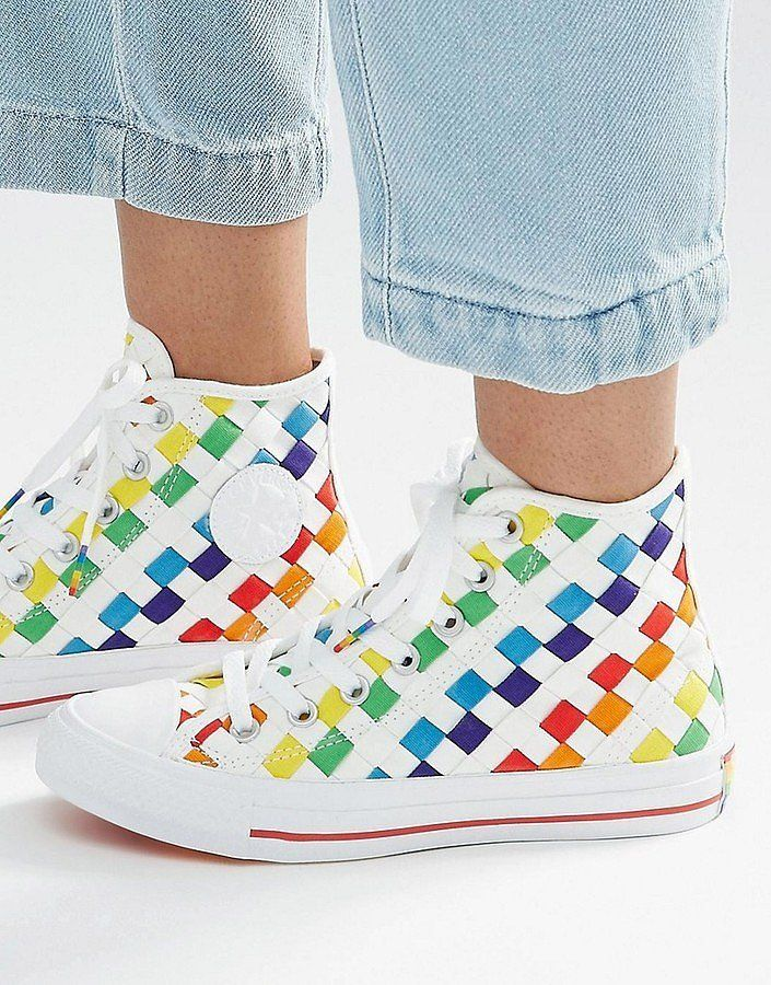 Converse Pride Rainbow Woven Chuck Ii High Top Trainers