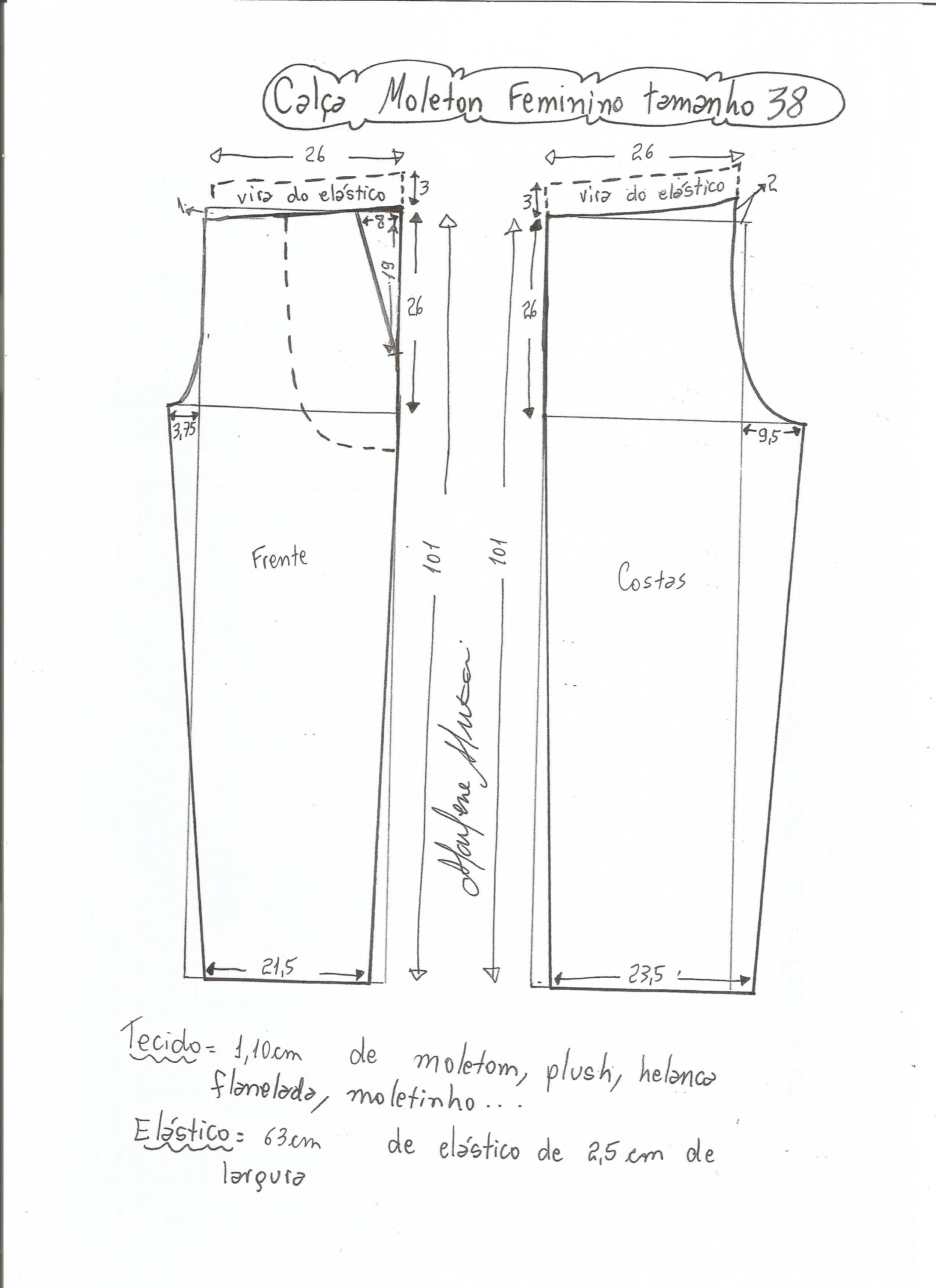 DIY Aprenda a fazer calça de moletom com elástico | COSTURA PARA INCIANTES