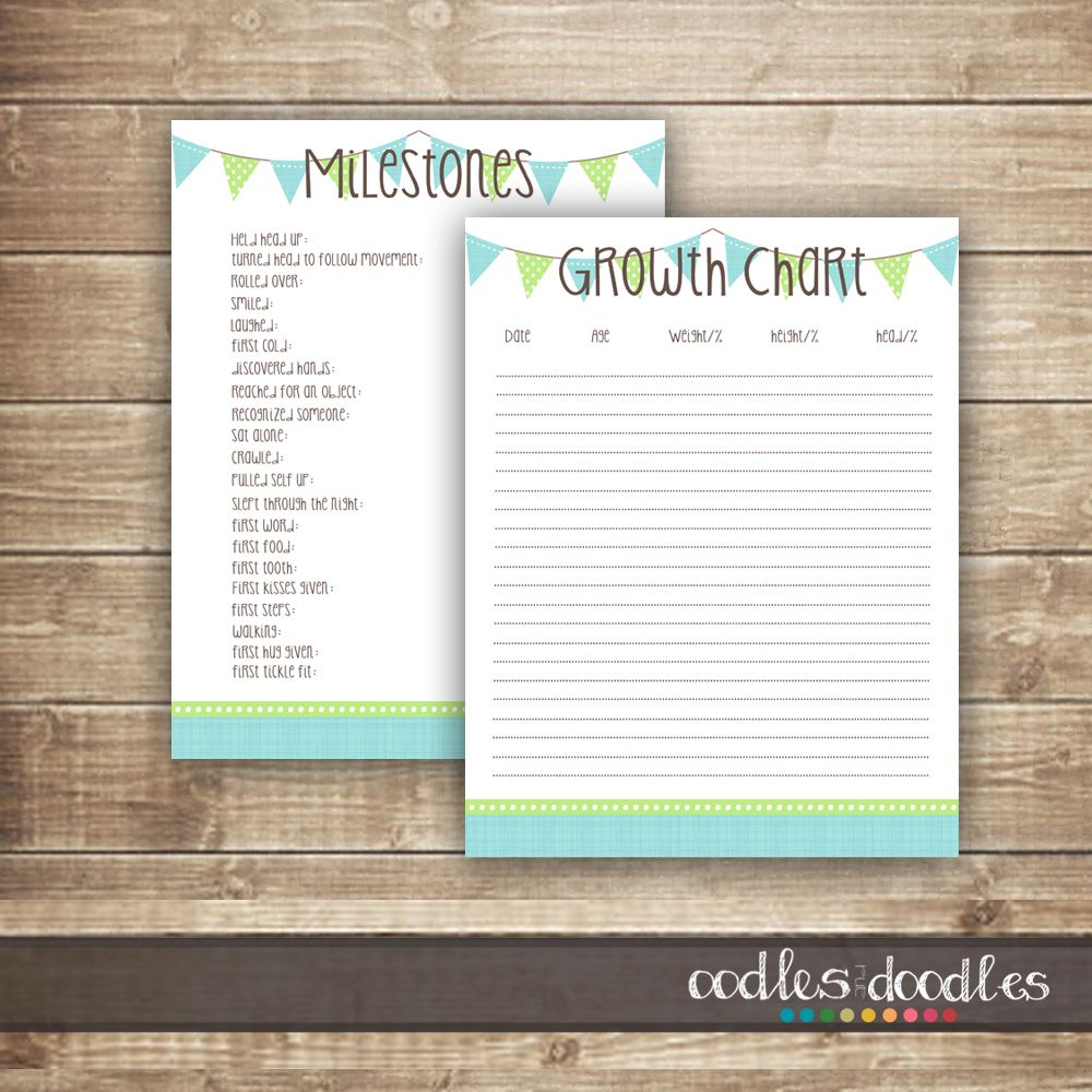 Free Printables Baby Milestones  Growth Chart Printable