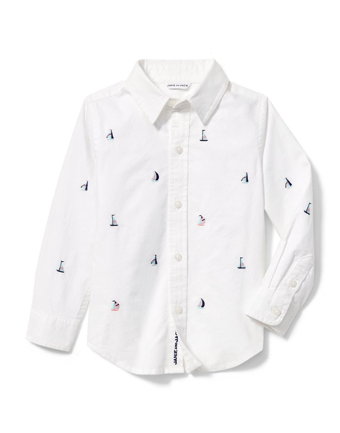 Boy White Sailboat Oxford Shirt By Janie And Jack In 2021 Oxford Shirt Oxford Shirt Outfit Casual Style Outfits [ 1780 x 1400 Pixel ]