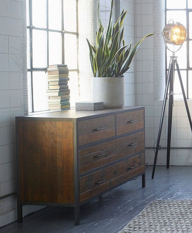 industrial style bedroom furniture chest of drawers apartment rh pinterest co uk Industrial Rustic Bedroom Furniture Old European Style Beds