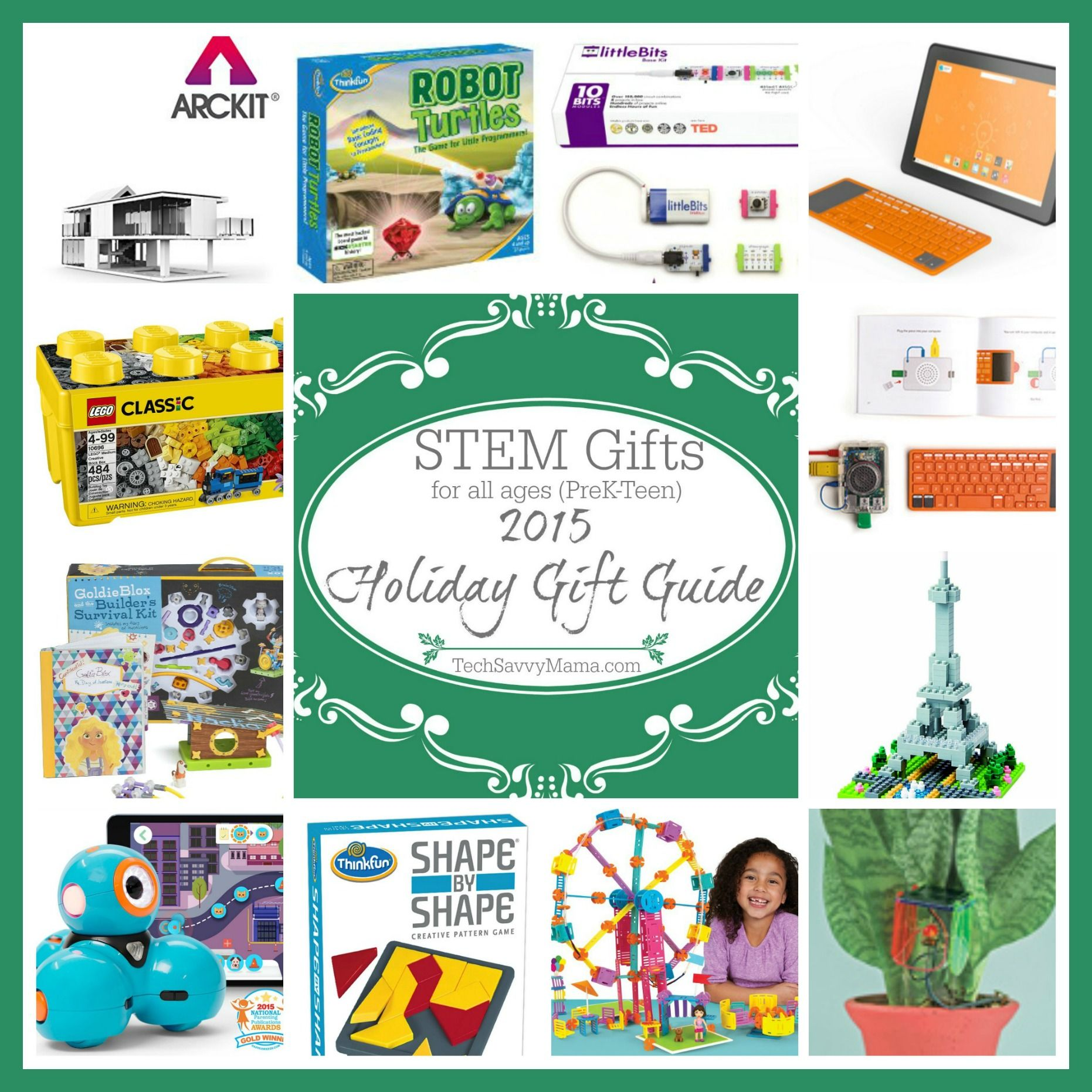 2015 Gift Guide STEM Gifts for All Ages preK teen