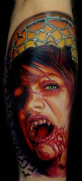 4800a5dd5 Figurehead Tattoo : Tattoos : Portrait : Vampire girl   3-D tattoos ...