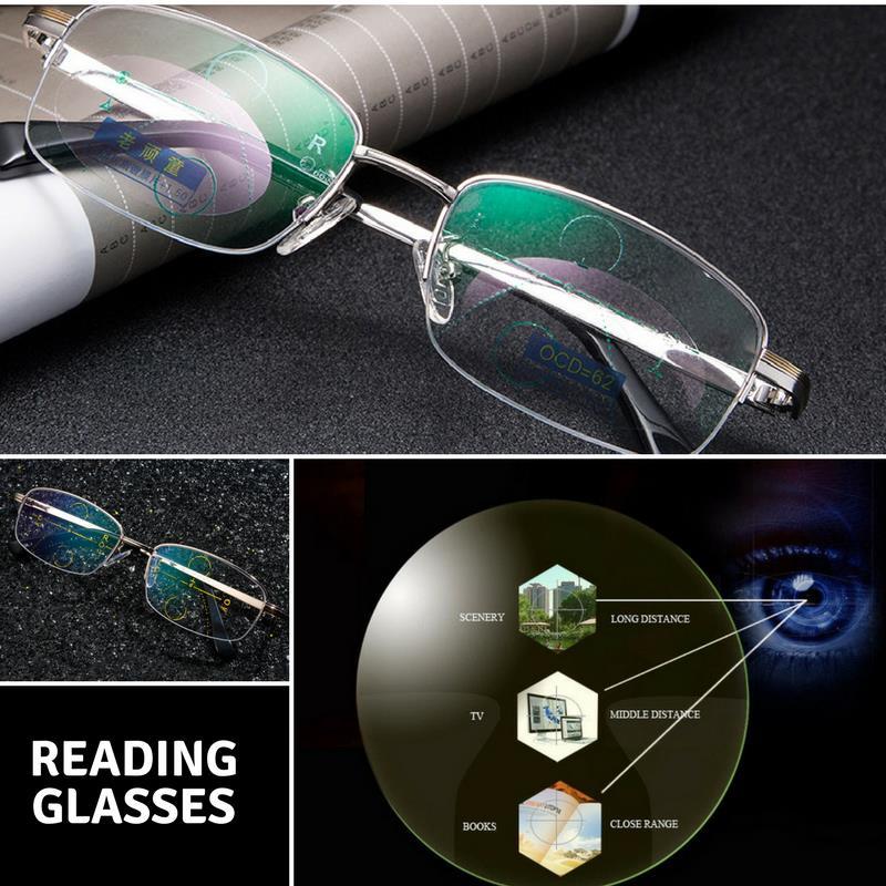 KCASA Intelligent Reading Glasses Progressive Multifocal Lens Presbyopia  Alloy Frame Anti Fatigue at Banggood b2c109b0ed70