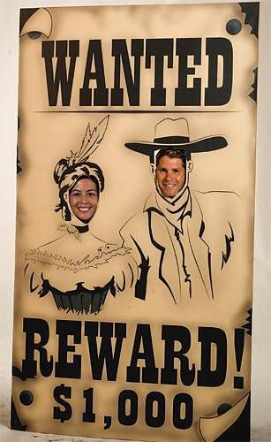 Wanted Poster Photo Stand In