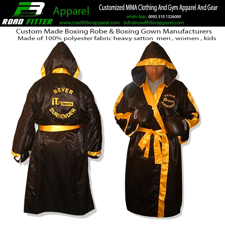 Personalised Boxing Robes: Mma Clothing, Gym Outfit, Robe