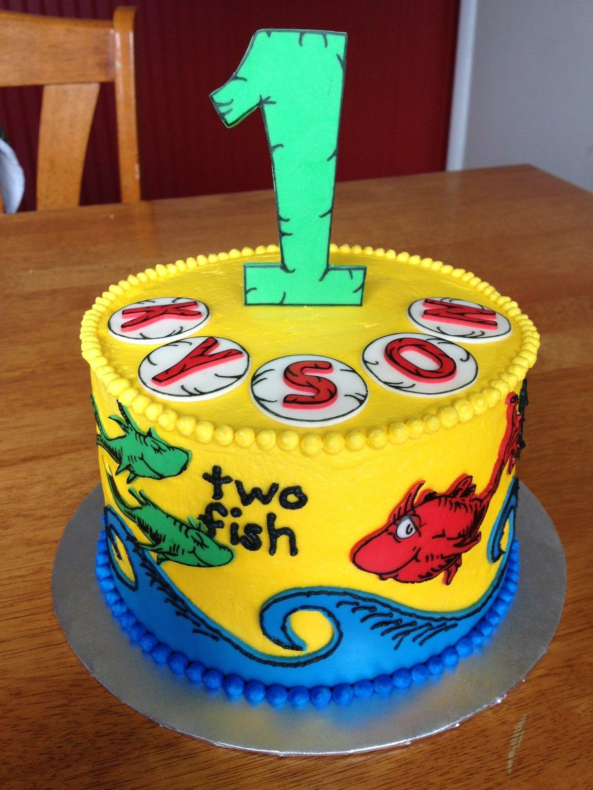 Sugar Love Cake Design One Fish Two Fish Red Fish Blue Fish