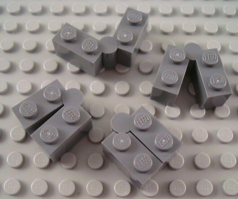 LEGO Lot of 4 Dark Gray 1x4 Swivel Hinge Brick Parts