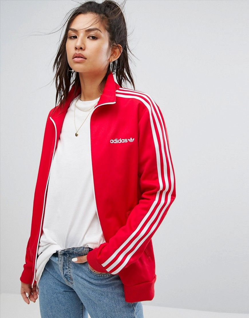 official photos new authentic new collection adidas Originals Track Jacket In Red - Red | Products ...