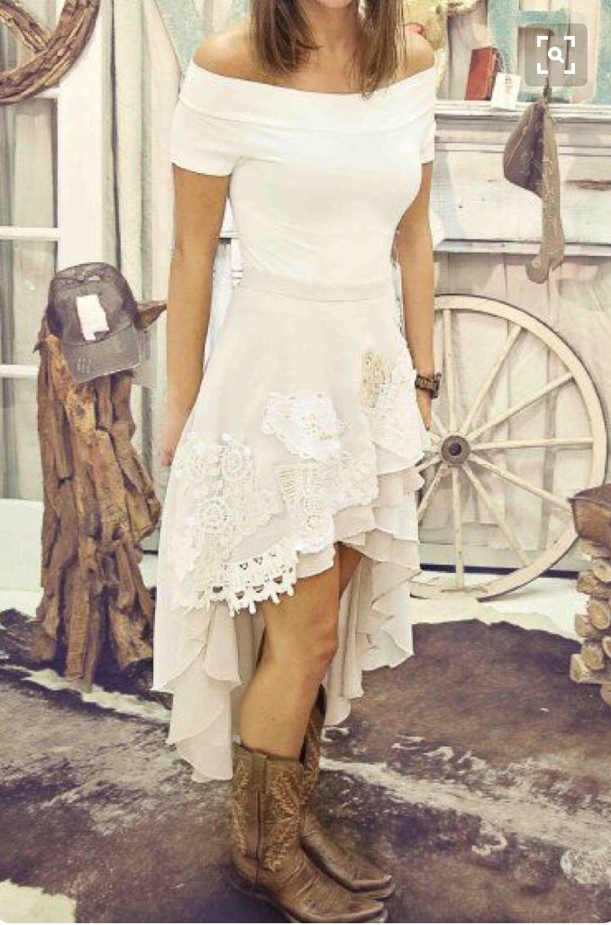 Simple Wedding Dresses High Low Country Dresses Country