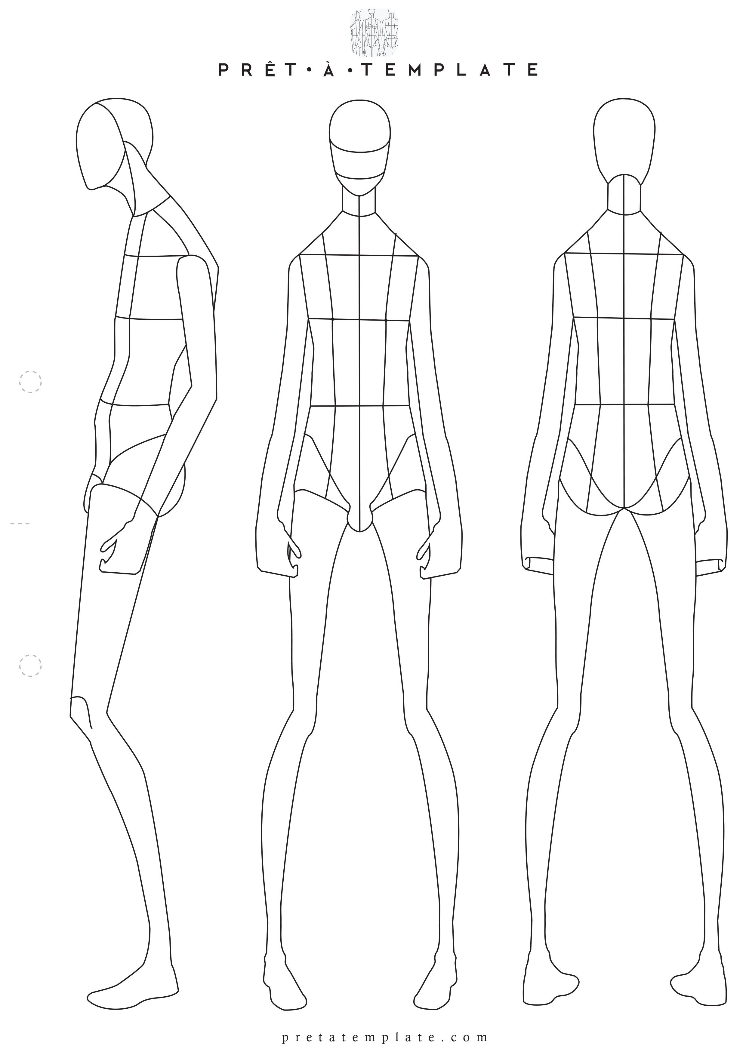 Man Male Body Figure Fashion Template D I Y Your Own Sketchbook Keywords Ilration Drawing Design Tool