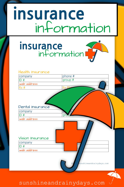 Insurance Information (PDF) Individual health insurance