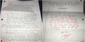 Jovem corrige carta de desculpas escrita pela ex-namorada como se fosse uma prova de redação
