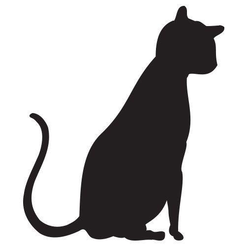 pochoir chat gratuit à imprimer chat 1 Pinterest Origami and