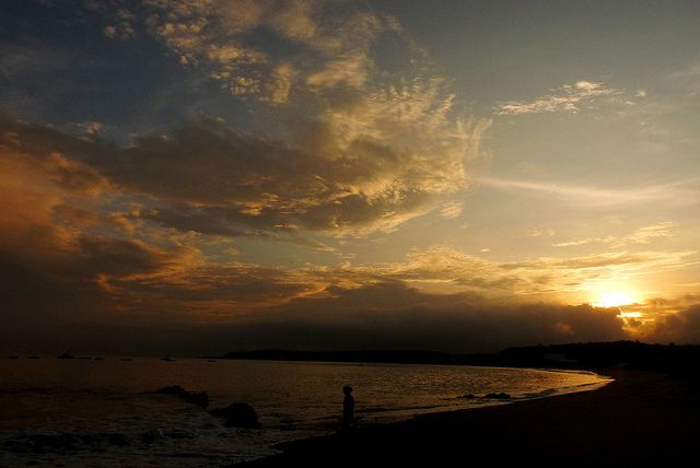 El amanece y yo me enamoro, querria quedarme para siempre ahi. Punta Sal - Tumbes - Peru