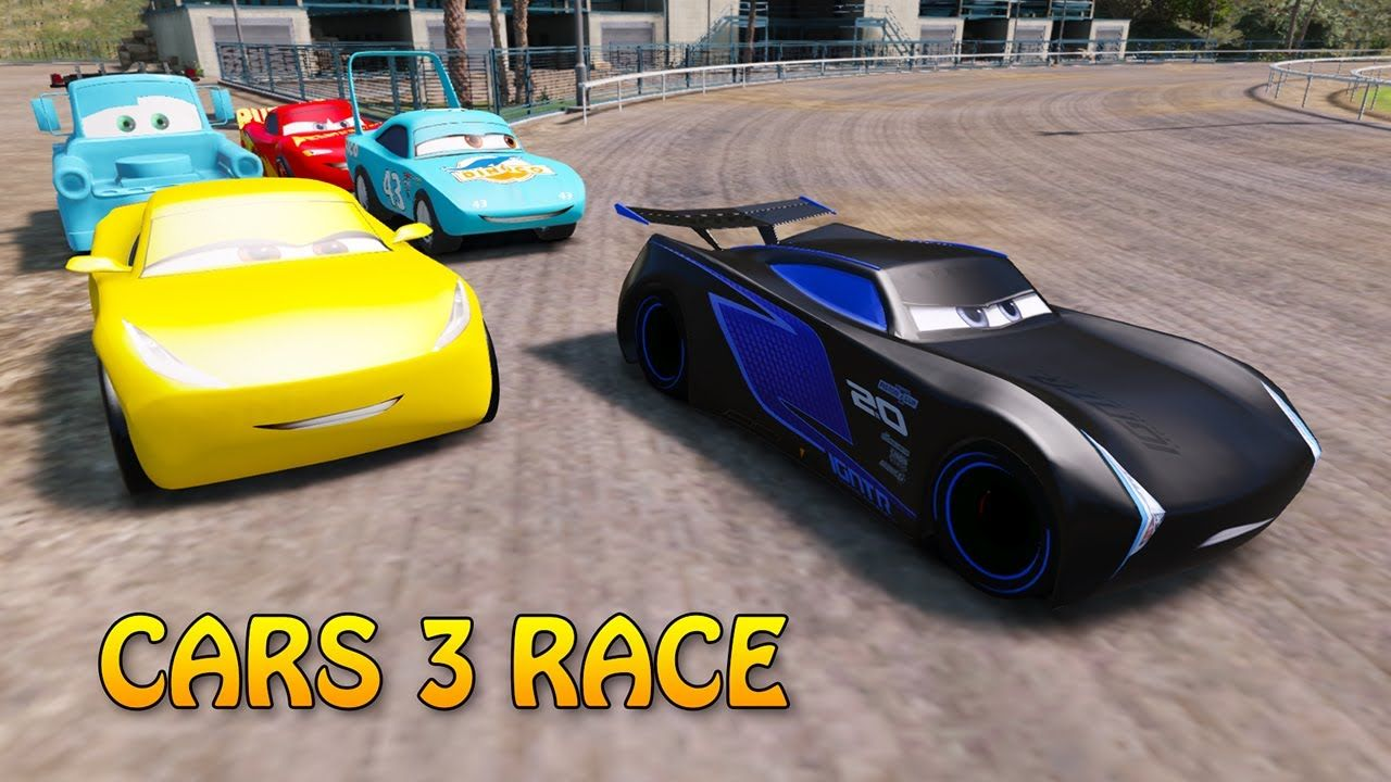 Cars 3 Race Disney Pixar Lightning Mcqueen Jackson Storm Cruz